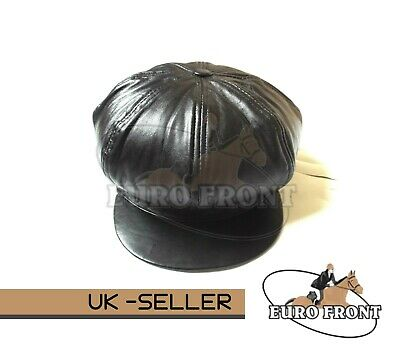 New 100% Real Leather Flat Cap 8 Panel Stylish Top Quality For Man&woman