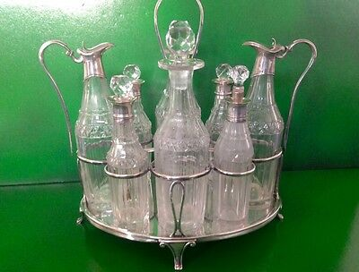 Georgian Hennell Antique English Sterling Silver Cruet Condiment Set London 1797
