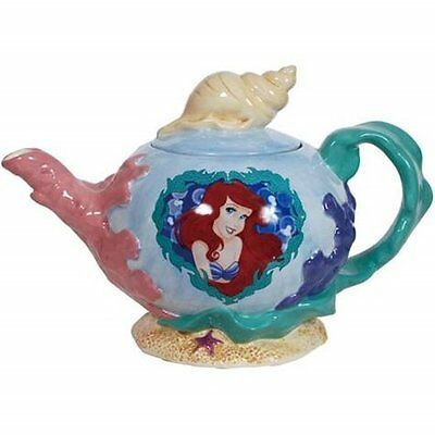 Walt Disney's The Little Mermaid Image Pearl of the Sea 36 oz Ceramic Teapot NEW