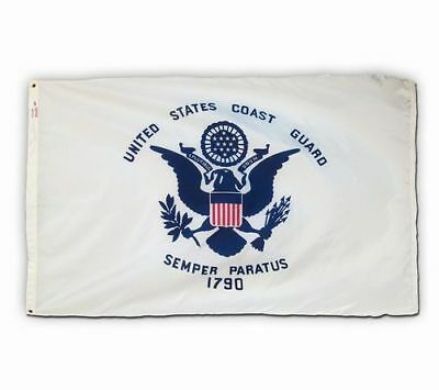 3x5 ft US COAST GUARD FLAG 1790 Semper Paratus Official Military Flag USA Made
