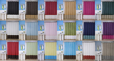 1Pc Silky 2 Tones Solid Bathroom Fabric Shower Curtain No Liner (H10)