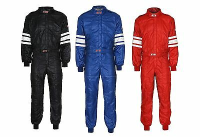 Racesuit STR Double Layer Fireproof SFI 3.2A/5 Approved Black / Blue / Red