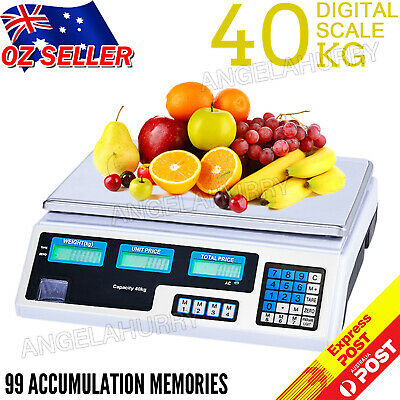 40KG Kitchen Digital Commercial Shop Electronic Weight Scales Postal Food Fruit