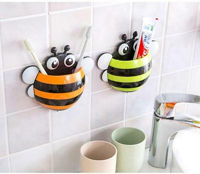 Creative Cute Ladybug/Frog/Bird/Bee Suction Toothpaste Toothbrush Holder Curtoon