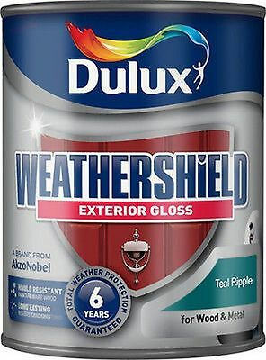 Dulux Weathershield Exterior Gloss 750ml TEAL RIPPLE - Exterior Wood & Metal