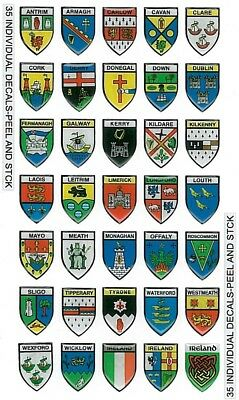 Collectable Bubble Stickers Depicting 32 Counties Of Ireland
