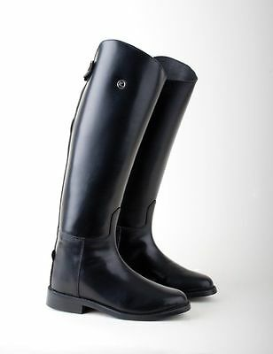 Rhinegold Calf Leather Long Dressage Style Ladies/Mens Horse Riding Boots