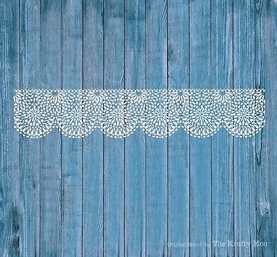 Stencil  Mylar Reusable Lace Border Furniture Wall Art Airbrush