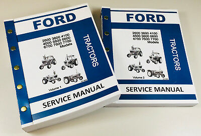 Ford 2600 3600 4100 4600 Tractor Service Manual Technical Repair Shop Workshop