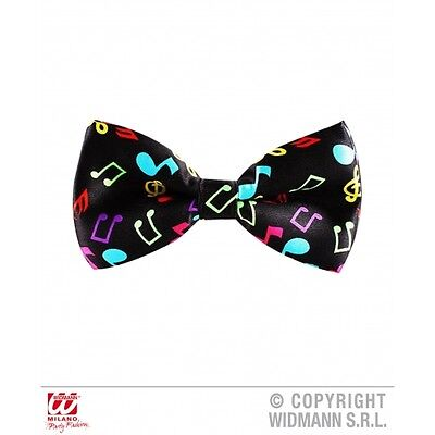 Music Notes bow tie adjustable musical themed bowtie fancydress