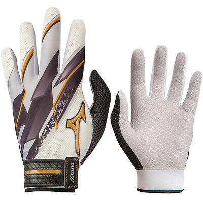 Mizuno Nighthawk FP Women's Fastpitch Softball Batting Gloves - White - XS