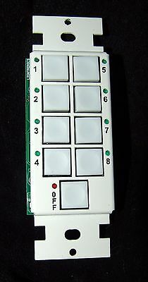 Lightronics AC-1109 Architectural Remote Station 8-scene Dimmer stage lighting