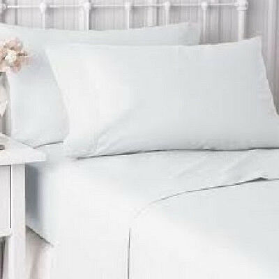 2 New Pillow Cases Cover King Size 20''x40'' Bright White T-200 Hotel Resort Spa