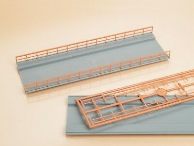 Auhagen OO/HO Gauge Bridge Decks & Railings Plastic Kit 48596