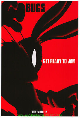 SPACE JAM MOVIE POSTER DS 27x40 BUGS BUNNY ADVANCE STYLE MICHAEL JORDAN