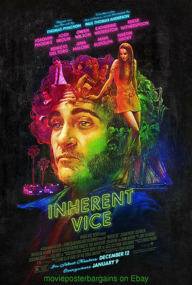 INHERENT VICE MOVIE POSTER Orig. DS 27x40 Final Style PAUL THOMAS ANDERSON Film