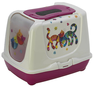 Maison De Toilette Chat/bac Litiere Pour Chat '' Forever''  As97395Ff-Violet