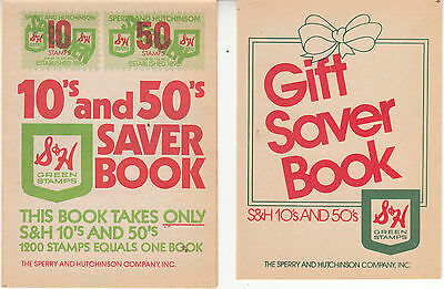 Vintage Lot of 46 S & H Green Stamps Unused Books - 10s & 50s Gift Saver +