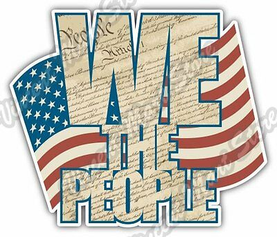 USA Constitution We The People Rights Car Bumper Window Vinyl Sticker Decal 4.6""