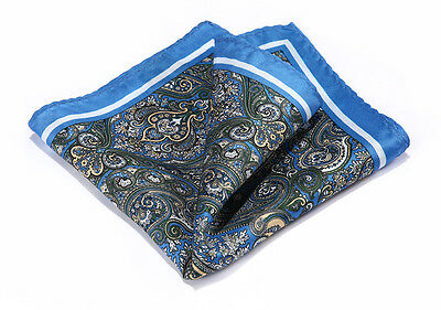 Handkerchief 100% Natural Silk Satin Mens Hanky Wedding Party Pocket Square
