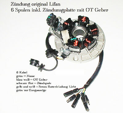 Zündung Lichtmaschine Magnet Coil Cross Bike Dirt X-Moto Orion Explorer Nitro