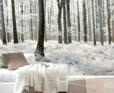 White Forest - 12' x 8' (3,66m x 2,44m)-Wall Mural