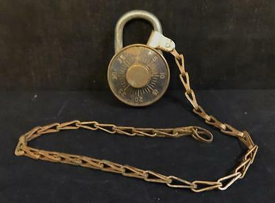 Rare Dudley vintage all brass combination padlock made in Chicago Illinois!