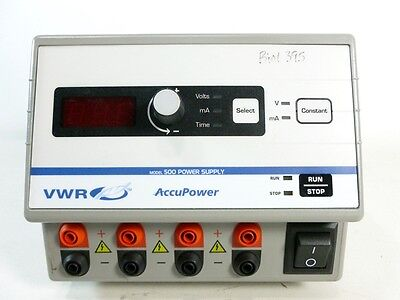 VWR AccuPower Model 500 Electrophoresis Power Supply