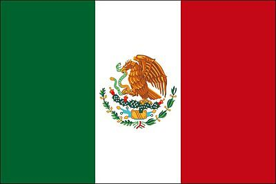 3x5 ft Country of Mexico Flag Outdoor Print Nylon Made in USA
