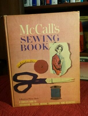 1963 Vintage McCalls Sewing Book Dressmaking Mending Home Decorating Embroidery