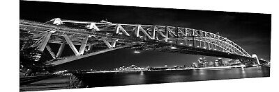 150cm canvas Australia bridge art print Sydney opera house black landscape