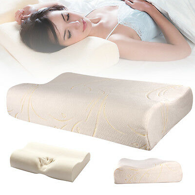 Contour Memory Foam Pillow Orthopaedic Firm Head Neck Back Support