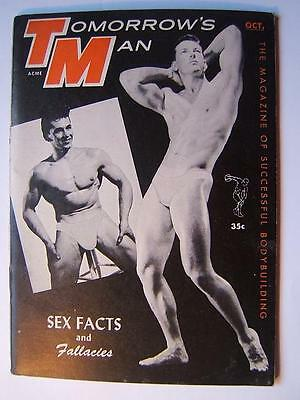 TOMORROWS MAN male physique October 1958 VINTAGE MAGAZINE Gay Interest men
