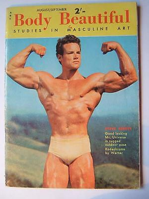BODY BEAUTIFUL male physique Aug / Sept 1955 VINTAGE MAGAZINE Gay Interest men