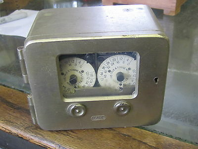 Old Yale & Towne 2 Movement Time Lock Vault Mech Bank Safe Ex++