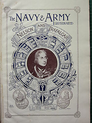 1896 Illustrated Article ~ Lord Nelson & Trafalgar ~ Naval Ships ~ Flag Colours