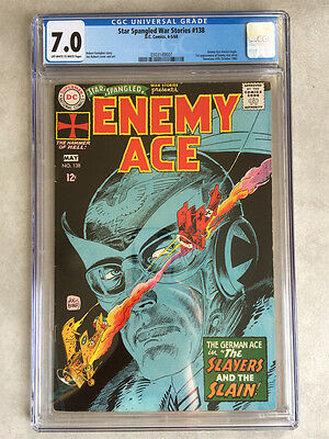 Star Spangled War Stories #138, CGC 7.0, 1st Enemy Ace