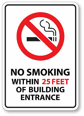 NO SMOKING 25 Ft Sticker Decal waterproof outdoor high quality White Background