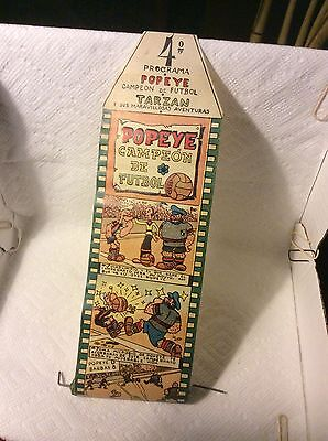 Old Childs Toy Movie Theatre  Popeye And Tarzan Picture Roll