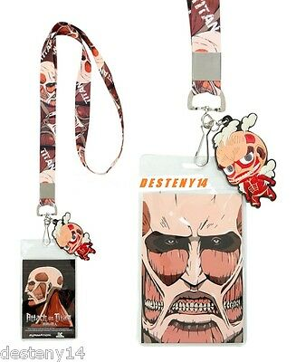 Attack On Titan Colossal Titan Lanyard W/ Charm NWT