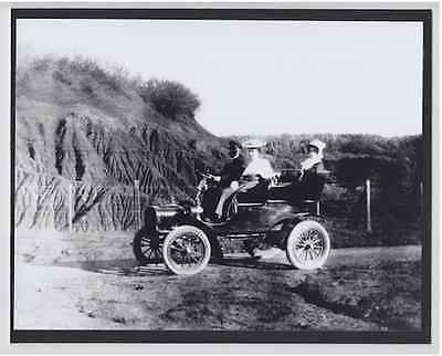 "Early Auto Near Sugar Cane Field 1905? Hand Printed Silver Halide 8X10"" Photo"