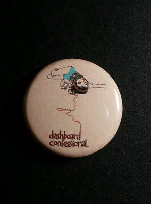 "Dashboard Confessional Girl Laying In Headphones 1"" Music Pinback Button Pin"