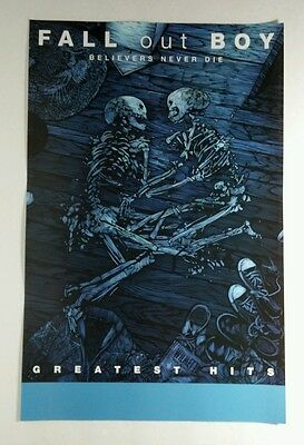 FALL OUT BOY BELIEVERS NEVER DIE. SKELETON BAND PHOTO BAND 11x17 MUSIC POSTER