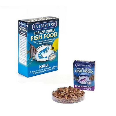 Interpet Freeze Dried Aquarium Fish Food Diet Treat Tropical Freshwater Tanks