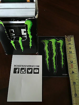 """4 Monster Energy Sponsor Decal 4"""" Authentic"""
