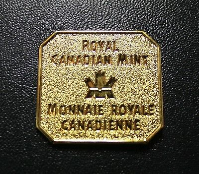 Royal Canadian Mint Official Logo Made By RCM (Gold Plated) Not a Coin Or Token