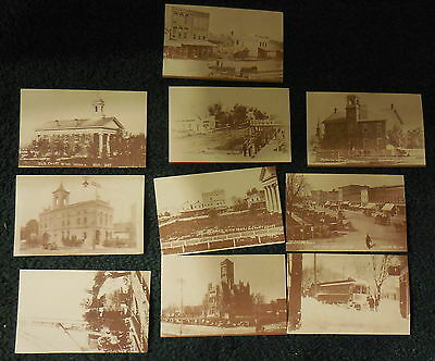 Vintage New Bryan Ohio,lot of 10,public library photo archives,postcards,town