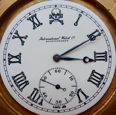 Rare IWC Schaffhausen Chronometer Memento Mori Skull Doctor's desk Ball Clock • £2,032.04