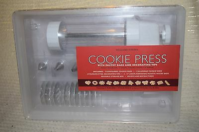 Williams Sonoma Cookie Press with Decorating Tools