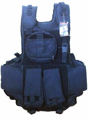 Black Paintball Airsoft Vest Viper Tactical Army Combat Assault Vest Webbing